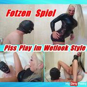 Piss Play in Wetlook Style - Cunt Play