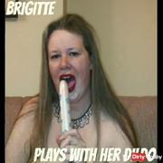 Brigitte is playing with her favorite dildo