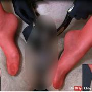 Red stockings, black mules, hard but hearty deviated - Dirty Talk