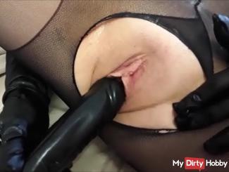 Blowjob handjob Fußjob and horny Masturbation with dildo !! POV !!