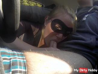 Blowjob in the fast lane