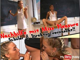 Tuition with Miss Pleasure - Schüler & Direktor vernascht!