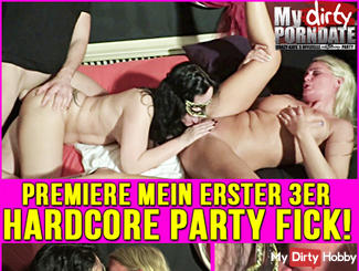 HARDCORE PARTY FUCK! My first 3 FFM