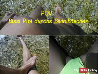 pee Bissi à travers culottes bikini: POV