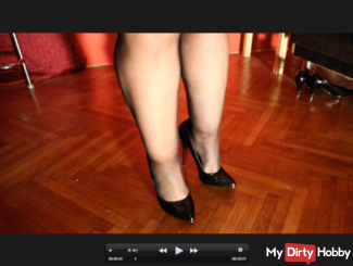 chubby legs with high heels