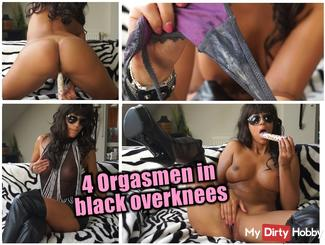 4 Orgasmen  in black overknees