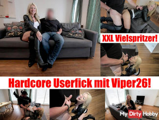 Hardcore Userfick! XXL Facial for leather Bitch!