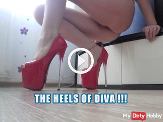 The heels of diva !!! Catwalk, Heels of hell - passionate walking !