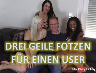 Three horny pussies for a user