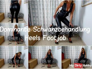 Dominant Tail treatment heels Footjob