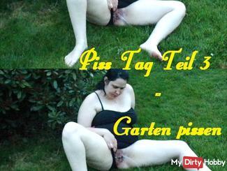 Piss Tag Part 3 - Garden pissing