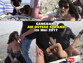 Gangbang on the beach in May 2017 - Part 1