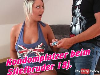 Condom blurted the stepbrother 18j ... !!!