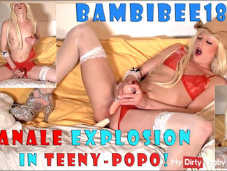 BambiBee18: Anal explosion in teeny-pop!
