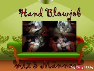 Blow & Handjob with 3 men
