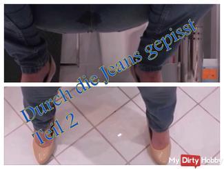 à travers les jeans pisser partie 2
