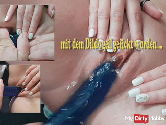 Fucked in the morning with the dildo and horny gesucktet