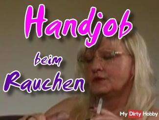 Handjob while smoking