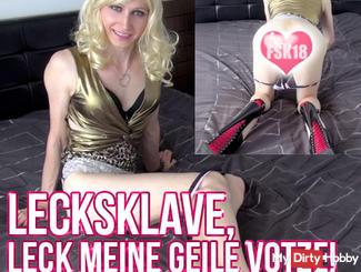 Lick slave, lick my horny cunt!