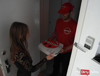 Den Pizzaboten vernascht