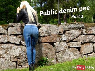Public Jeans pissen part 1