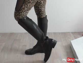 Riding boots Teasing