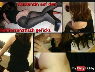 Seminar sex scandal - Asistentin on Konferrenztisch fucked