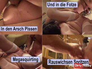 BüroStuh lExtrem pussies Anal Fuck Wank spray Piss Part 2