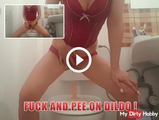 fuck and pee on dildo !