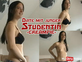 Date with young student - Creampie!
