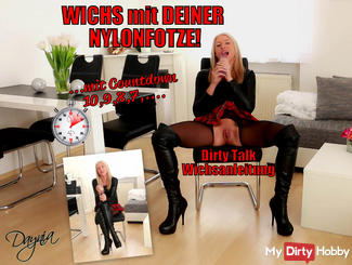 3,2,1 ... Spray on my command! Dirty Talk Wichsanleitung!