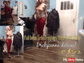 FAIL the above WITHOUT leather leggings Heels Walk | by Lady_Demona