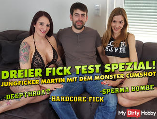 Three special fuck-test! Jung Ficker Martin with the XXL Monster cumshot !!!