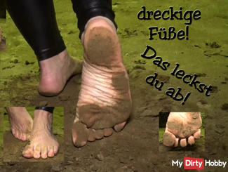 Dirty feet, which you lick off !!!
