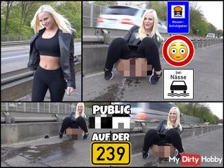 DREIST - Alle können mir zuschauen   PUBLIC pi** direkt an der Hauptstraße