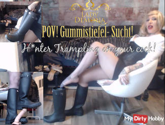 POV Wellies addiction! H * under trampling on your COCK! | by Lady_Demona
