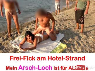 Mass Ass Fuck at Hotel Beach! Free fuck for ALL