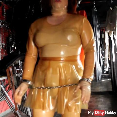 Colorless latex with handcuffs