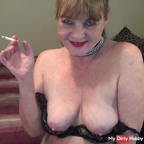 Erotic smoking fetish