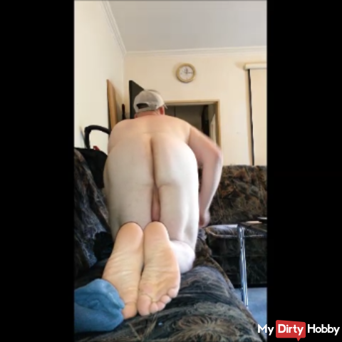 Strip auf der Couch