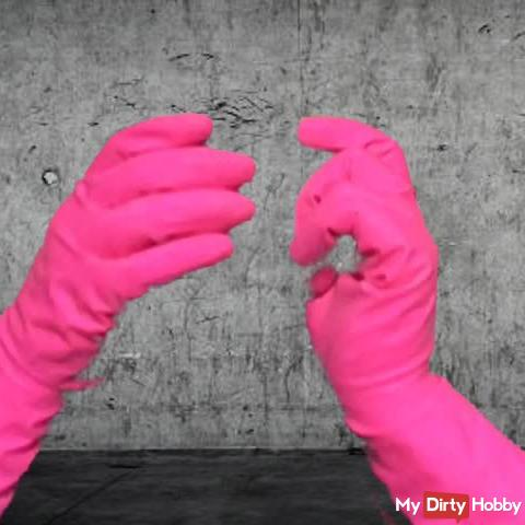 Arikajira Invisible Pink Rubber Gloves