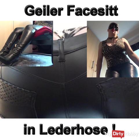 Geiler Facesitt in Lederhose!