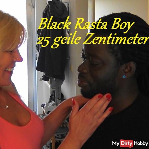 Black Rasta Boy mit 25cm Monsterschwanz