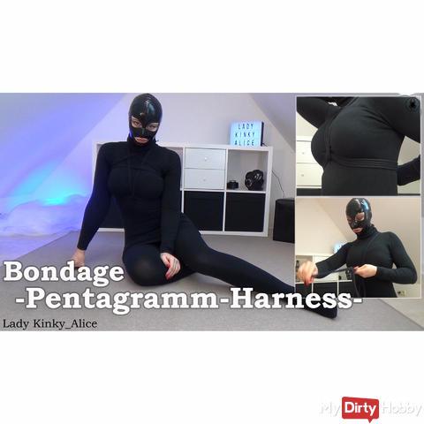 Bondage pentagram harness