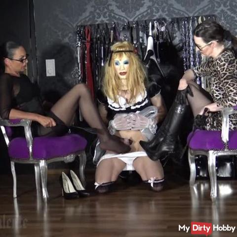 Sissy Maid for the ladies - Transformation With special guest Madame Catarina Part 4