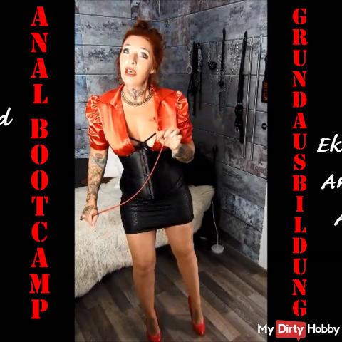 Sklaven Bootcamp! Ekeltraining, Schwanz & Eier abbinden, Analdehnung! Grundausbildung 2