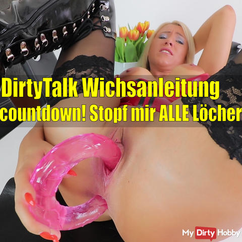 Latex Dirty Talk Wichsanleitung with spray countdown!