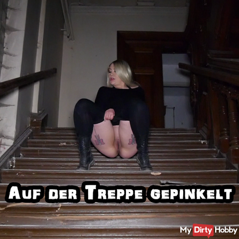 Peeled on the stairs
