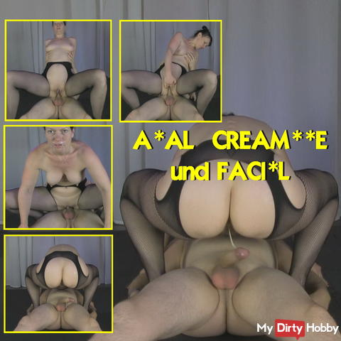 Analfick with creampie
