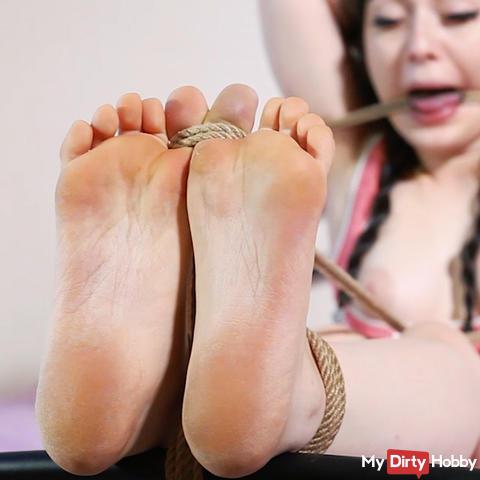 Bastinado and sole ticklish